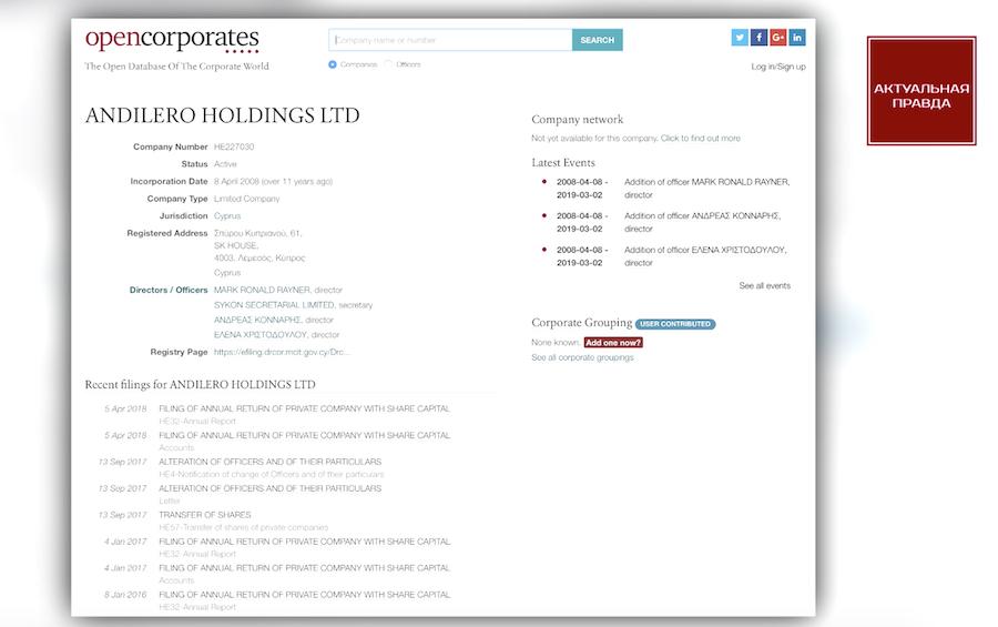 Andilero Holdings Ltd