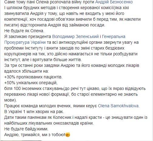 Елена Колесник коррупция