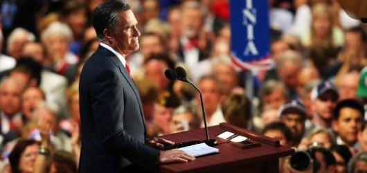 Mitt Romney gave the keynote address